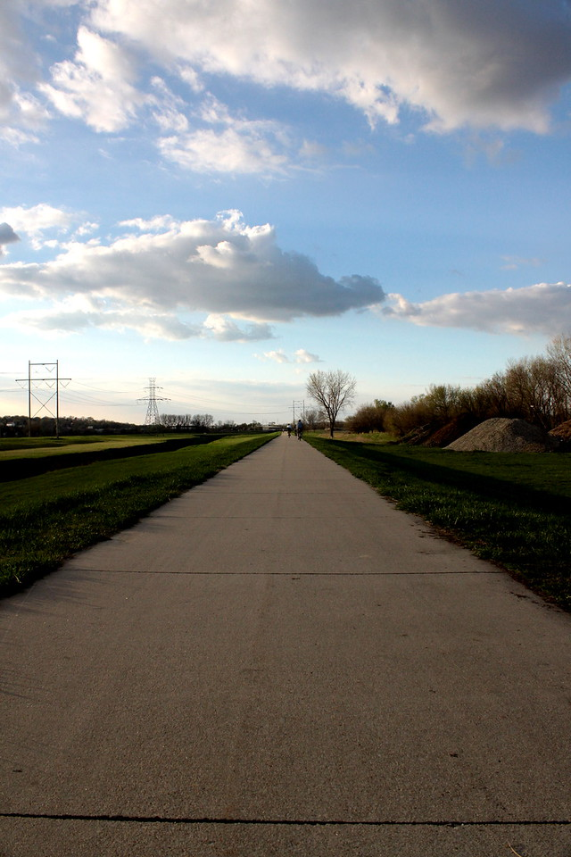 Papio Trail near 60th and Harrison Streets in Omaha, Nebraska.