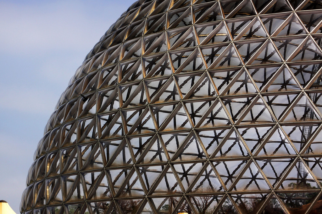 The Desert Dome is a huge indoor desert at the Henry Doorly Zoo in Omaha, Nebraska. It's a beautiful exhibit, but not a place to visit on days where millions of screaming children are crammed in at once.