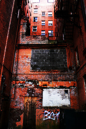 """I call this picture, """"Hopelessness."""" An old run down building on the corner of 18th and Capital Streets in downtown Omaha, Nebraska (across from the Civic Auditorium, for those of you familiar with the city)"""