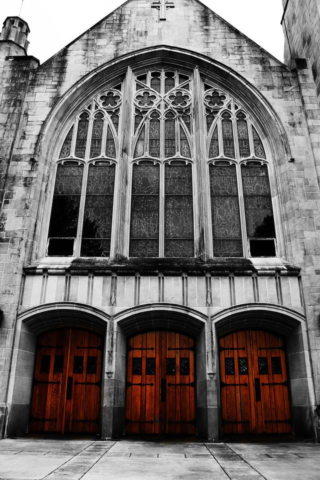 The outside of the Boys Town Catholic Church in Omaha, Nebraska