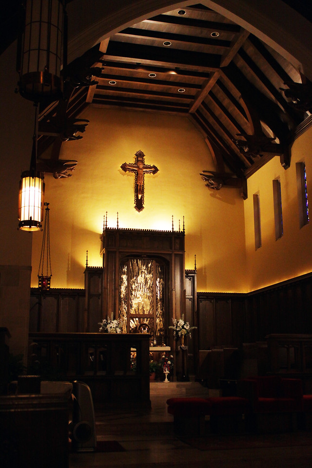 Here's the altar in the sanctuary at the Boys Town catholic church