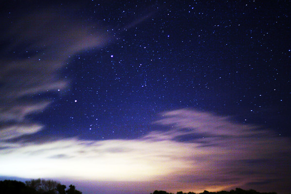 Shot at 15 seconds, this was the clouds that rolled in as I was attempting to capture something during the Leonid meteor shower north of Omaha, Nebraska.