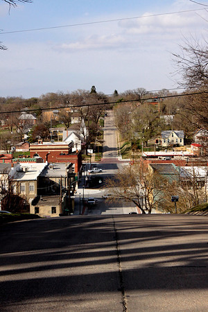 A view of Plattsmouth's downtown area, looking north.