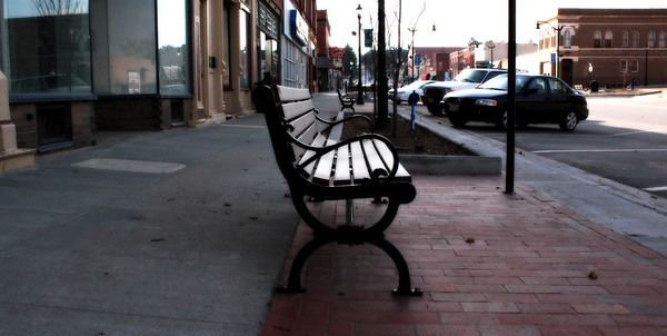 Bench in historic Plattsmouth Nebraska