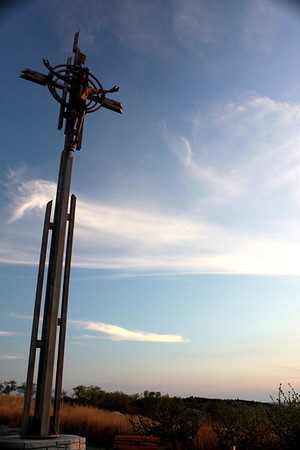 This is the crucifixion cross that sits north of the Holy Family Shrine in Gretna, Nebraska.
