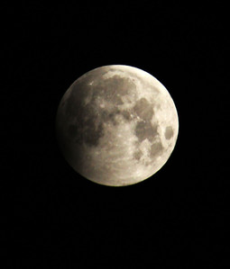 Here's the start of the partial lunar eclipse on June 4, 2012, at 5 a.m CST