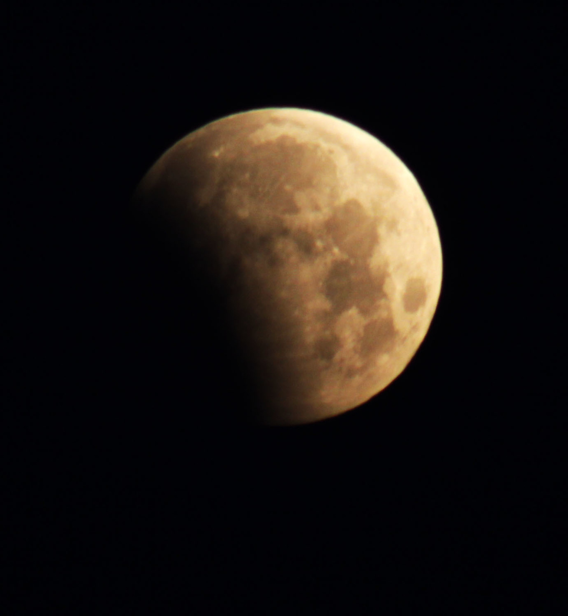 Here's the partial lunar eclipse on June 4, 2012, at 5:45 a.m CST