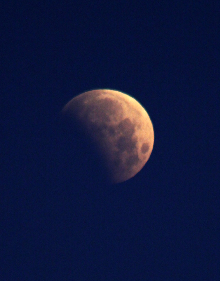 Here's the partial lunar eclipse on June 4, 2012, at 6:15 a.m CST