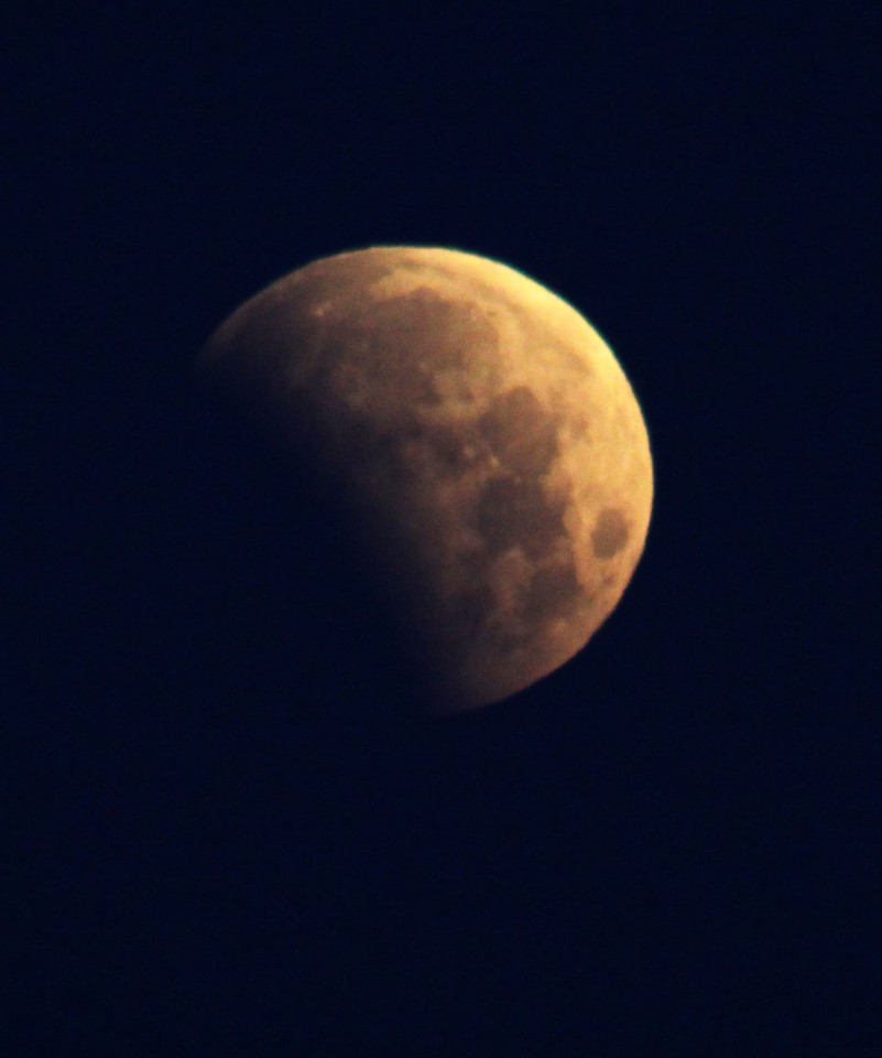 Here's the partial lunar eclipse on June 4, 2012, at 6 a.m CST