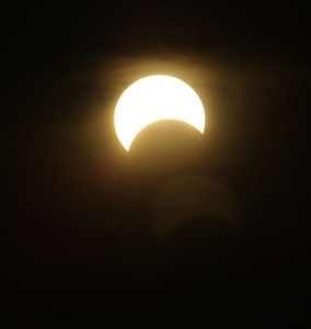 The following are pictures from the partial (it was annular on the west coast) eclipse over Omaha, Nebraska. These were taken across the Missouri River in Council Bluffs, Iowa.