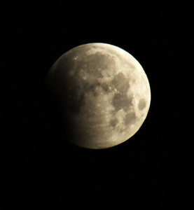 Here's the partial lunar eclipse on June 4, 2012, at 5:15 a.m CST