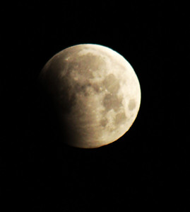 Here's the partial lunar eclipse on June 4, 2012, at 5:25 a.m CST