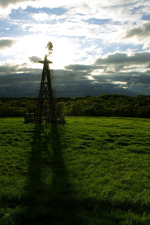 A windmill north of John Wayne Ranch at Mahoney State Park in Ashland, Nebraska.