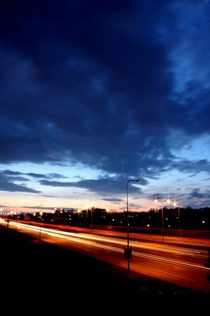 Interstate 80, 36th Street bridge, looking west