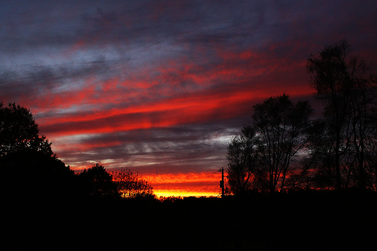 Sometimes, all you have to do is go outside! This is taken from my back porch.