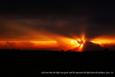 I took this sunset north of Topeka, Kansas on the way home to Omaha, Nebraska.