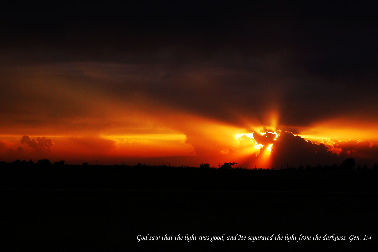 I took this sunset north of Topeka, Kansas on the way home to Omaha, Nebraska.