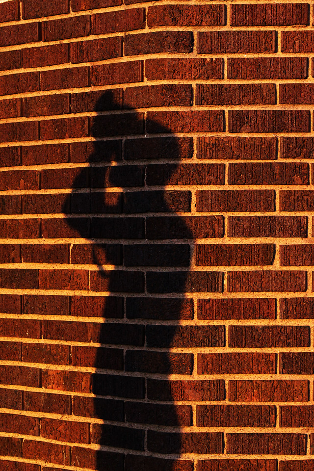 A shadow of my buddy and fellow photographer, Steven Nohrenberg, taken at Pella Lutheran Church in Omaha, Nebraska.