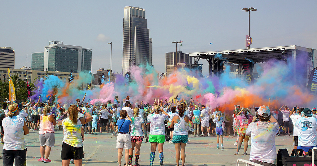 These are from the Color Run in Omaha during the summer 2014!