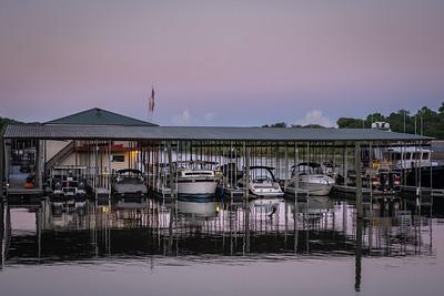 evening tones on the dock