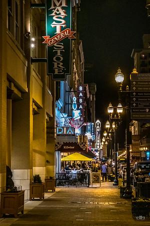 shopping at night on gay street