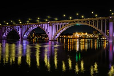 reflecting on gay street bridge