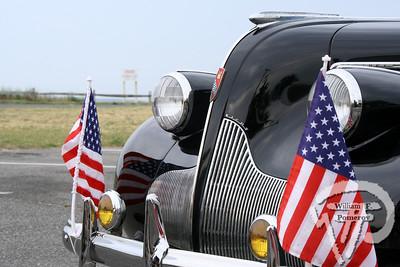 MAYO BEACH — classic car parade assembly . . . pre-July 4th Parade Wellfleet, MA — 2008