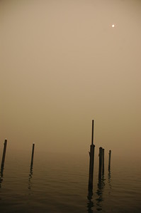 Smoke-filled Bay, Clearwater Beach, FL