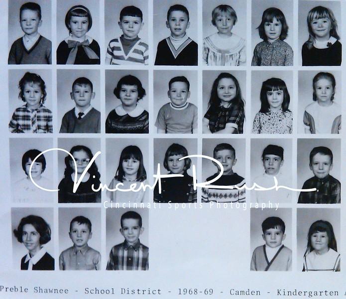 Camden Kindergarten Class. 3rd row...last on the right.