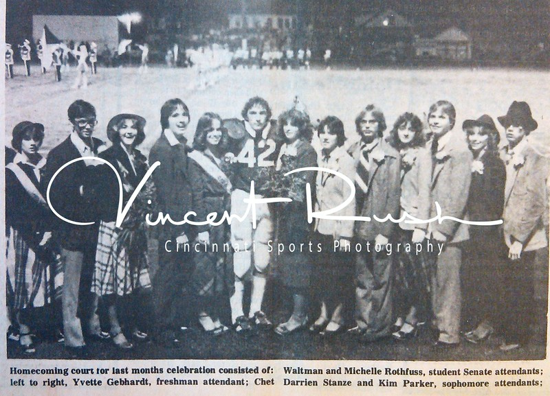 Preble Shawnee 1980 Homecoming Photograph. From the archives of The Preble County News of Camden Ohio in Preble County Ohio. All archived photographs pulled from the Preble County Geneology Center in Eaton, Ohio by Vincent Rush of Cincinnati Sports Photography