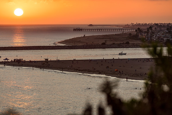 Fine art photography prints of Newport Beach, CA Sunset