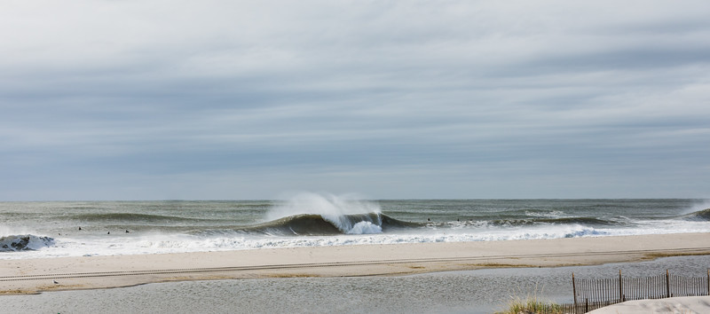 Big waves in Lido Beach Long Island, NY from tropical storm Melissa October 2019