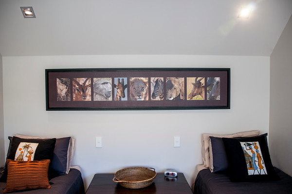 """Africa Portraits. Print on cnvas , mounted in box frame.<br /> Size 2010 mm x 480 mm (over-all frame)  Portraits 260mm X 21 mm & 26 mm x 15 mm)<br /> African Heads.<br /> Selection 9 wild animal African heads. Printable only by ordering direct; brian@brianscantlebury.com. Please email and advise your size.( print ratio 5;1 ie, 40 high ='s 2000wide including border) and other specifics for quote.<br /> Other African animal originals; <a href=""""http://smu.gs/1mytliW"""">http://smu.gs/1mytliW</a>"""
