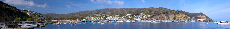 "Catalina Island's town of Avalon. This is an 8-panel panorama run through the Panorama Factory software. Click on ""O"" (Original) to get a full-size view."