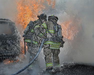 04.14.12 - Working Car fire - Jersey City, NJ.