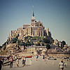 Mont Saint-Michel, France; Benedictine abbey/fortress as we leave
