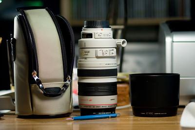 Lens, case, hood