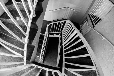"MONTH 5:  Black and White, Week 3, ""Stairwell at My Florida Condo"""