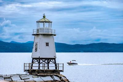 "MONTH 7: Week 1:  Topic: Anything Goes: "" Lighthouse at Lake Champlain,  Burlington VT"""