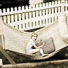 This is Connor - my REAL nephew - on the hammock.