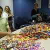 Speaking of Halloween... My company does Halloween up big.  This is the extended committee we (Patty me and Wendy) recruit to help us out with the special events.  This was our day to make 500 bags of candy for the distribution center workers.  One word - OUTSOURCE!
