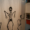 Katie and I change our shower curtain and towels seasonally.  This - of course - is the Halloween season one.  8-)