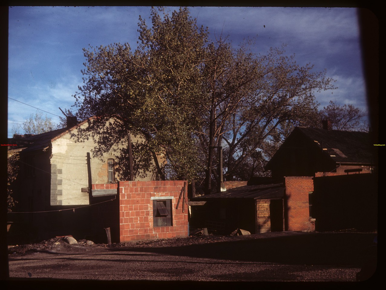 McWilliams brick house and old Victorian rooming and boarding house in rear. Moose Jaw 09/25/1949