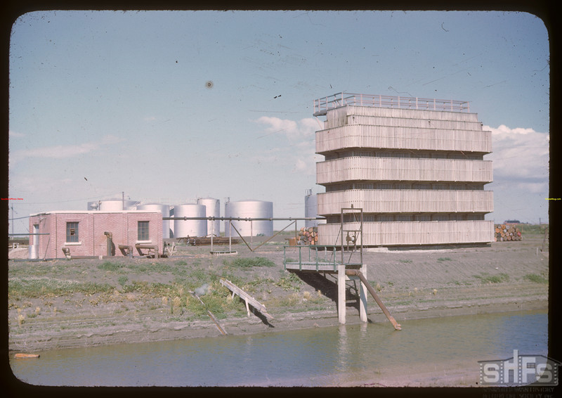 Federated Co-op Refineries water cooling tower.  Regina.  08/10/1946