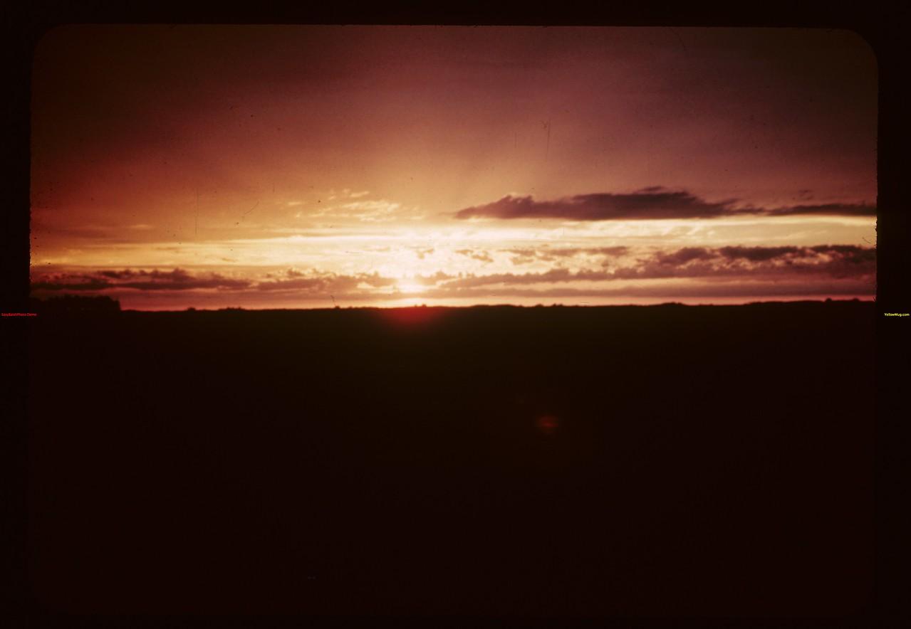 Sunset - Jackfish Lake Cochin 07/01/1944