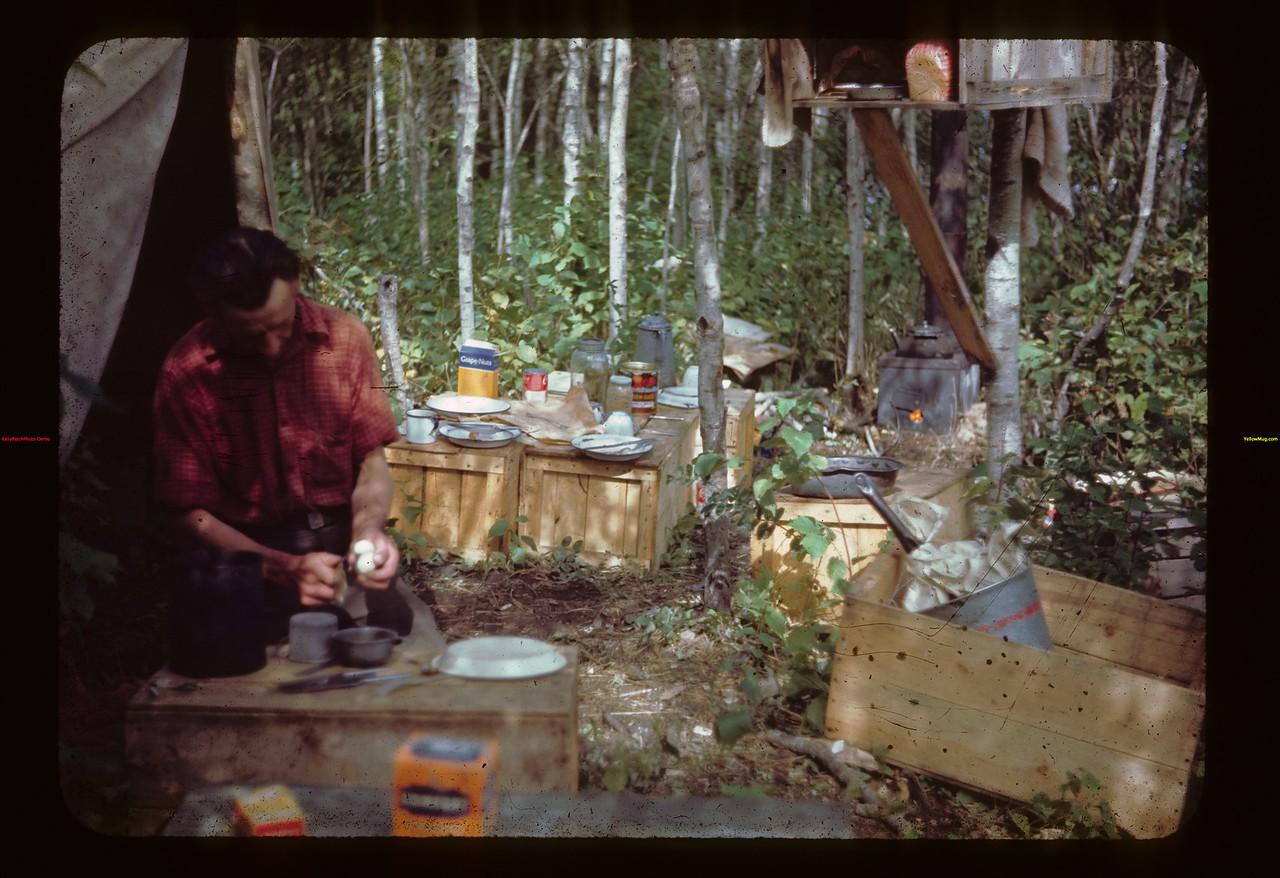 Andy Kulyk cook S. W. Fish Camp Loon Lake 08/22/1944
