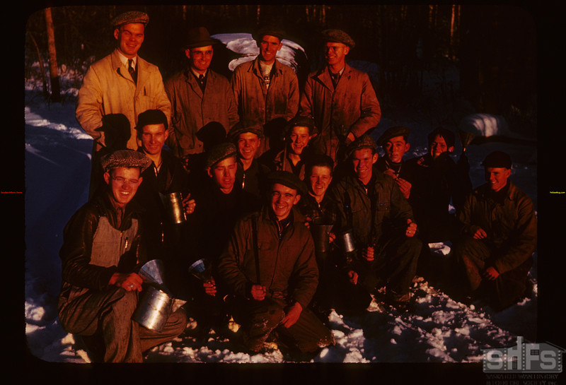 Blacksmith Group at close of day Kenosse Y-T-School	 Kenosse Lake	 11/26/1946