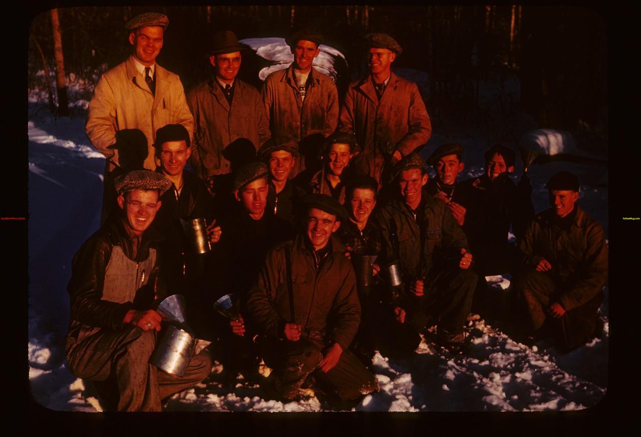 Blacksmith Group at close of day Kenosse Y-T-School Kenosse Lake 11/26/1946