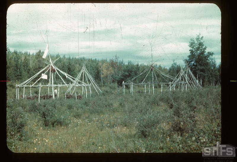 Indian Pow Wow grounds Sask. Settlement Rd Loon Lake 08/21/1944