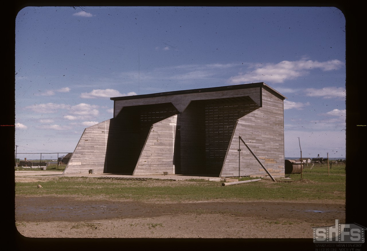 Outdoor handball court - boy's college. Gravelbourg.  06/11/1947
